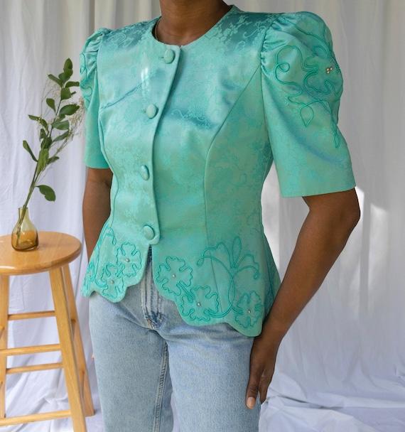 Vintage Victorian Puff Sleeve Blouse| Puff Sleeve… - image 1