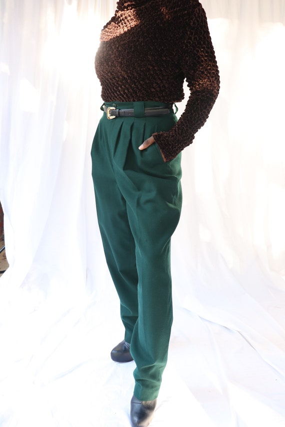 Vintage 100% Wool High Waisted Trousers
