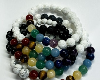 𝕄𝕒𝕥𝕚𝕝𝕕𝕒. Chakra Gemstone Aromatherapy Diffuser Bracelet