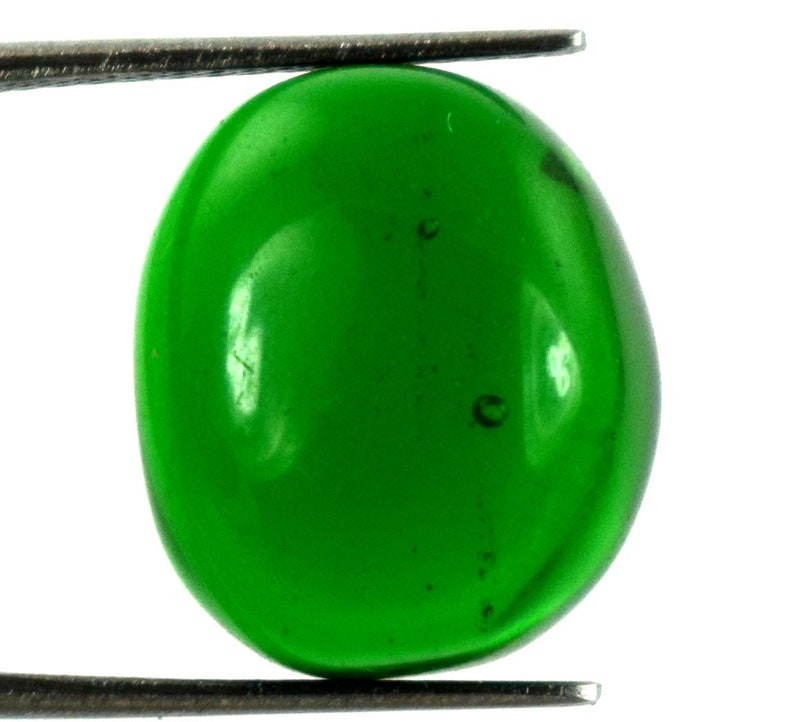 Colombian Green Emerald Oval Cabochon Gemstone 14.70 Carat Natural AGI Certified K3565 Festive Sales