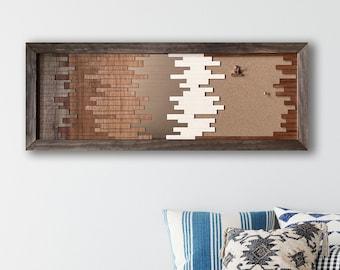 Ombre Boho 36 inch Cork Board overlay wall art - Digital Download for laser cutters - svg, pdf, eps, dxf - college dorm - cork board decor