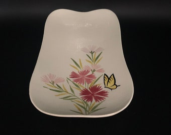 Red Wing Pottery Bowls Pair MCM Pink Spice Salad or soup bowls 8 size