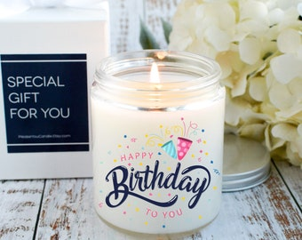 Personalized Candle Happy Birthday Gift Candle For Birthday Gift Friend Birthday Happy Birthday To You Candle