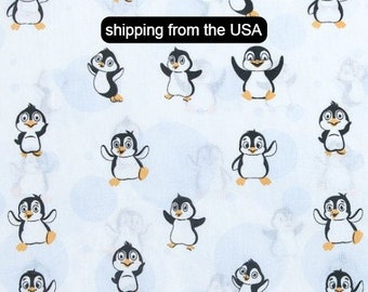 Cotton Fabric Quilting Fabric Penguin Dance-Cotton and Steel-50CM