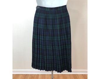 Vintage Skirt UK Size 10 Black White Blue 1990s Brendella  Skirt Wedding Office Races Garden Party