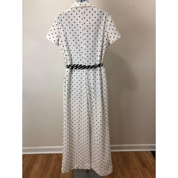 Vintage 1970s Nancy Greer New York White Black Po… - image 2