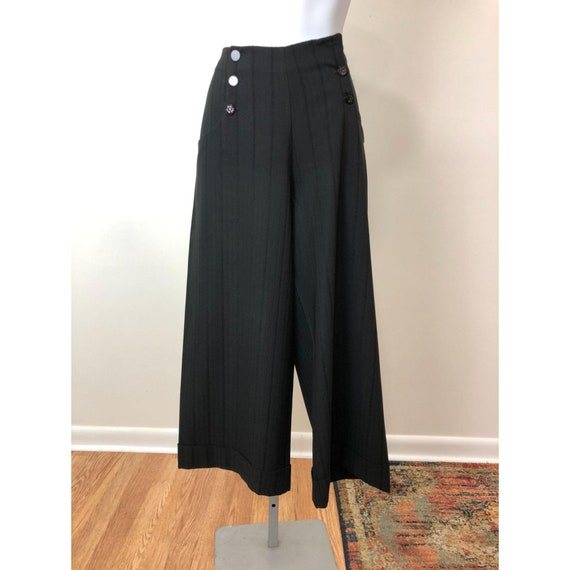 Karol Richardson 40s Inspired Wide Leg Ankle Pants