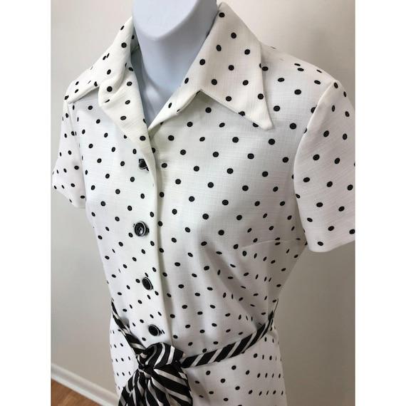 Vintage 1970s Nancy Greer New York White Black Po… - image 3