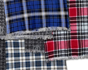 100/% Cashmere Scarf Soft 72X12 Blue Green Check Plaid Scotland Wool K9 Men Wrap