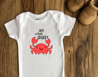 Crabby When Hungry Ocean Sea Life Cotton Custom Toddler T-Shirt Warning