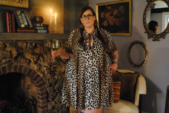 Vintage Leopard Print Nightgown
