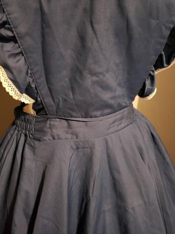 Vintage pinafore dress circle skirt square dance … - image 2