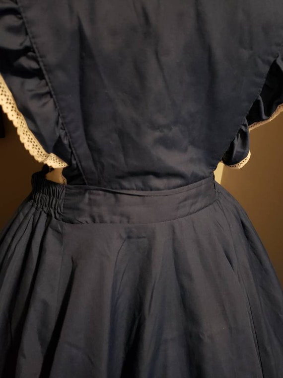 Vintage pinafore dress circle skirt square dance … - image 6