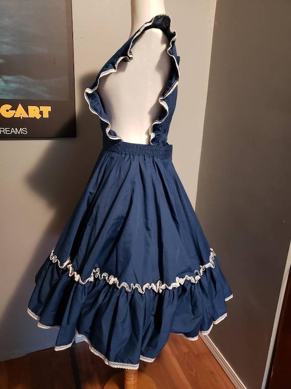 Vintage pinafore dress circle skirt square dance … - image 7