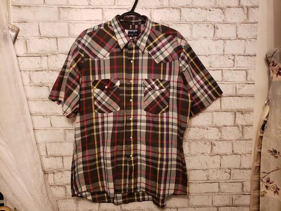 1960s cotton mens Wrangler short sleeve vintage we