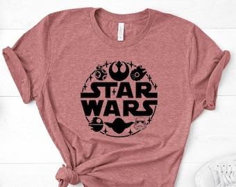 star wars t shirt etsy