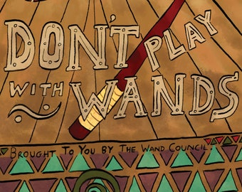 Life Lessons To Color: Don't Play With Wands (Satire Coloring Book for ages 8 and up)