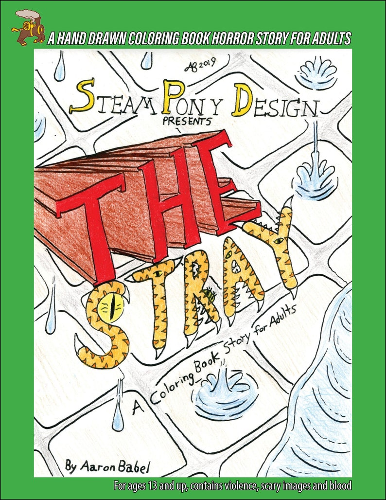 Stories To Color For Adults  The Stray Adult Coloring Book image 0
