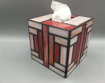 Foldable and reversible tissue cover in block printfabric box coverinterior decorationsmall gift