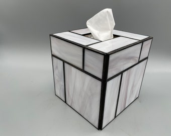 Tranquil Zen stained glass tissue box cover
