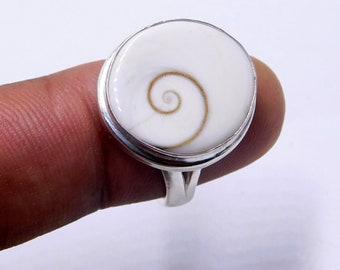 Sizes adjustable Shiva eye ring set in 92.5 sterling silver