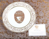 Faberge Peter the Great Easter Egg Charger Plate - 24K Gold Trim - Certificate - Original Box -Collector Very Rare Porcelain Limoges, France