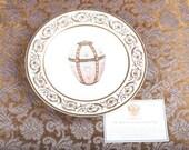 Faberge Gold Enamel Jewel Easter Egg Charger Plate - 24K Gold Trim - Certificate -Original Box -Collector Very Rare Porcelain Limoges France