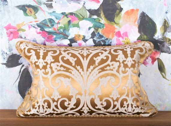 Luxury Rubelli Serlio Gold Pillow Luxury Venetian Baroque Etsy