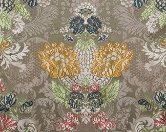 2 yards - luxurious silk lampas fabric - Watts of Westminster Valencia fabric