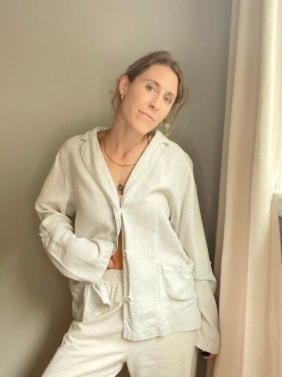 Linen Shirt Jacket - image 1
