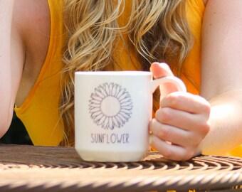 Sunflower Mug by Michael Shaw