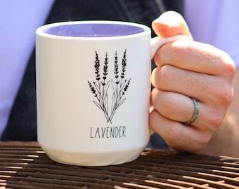 Lavender Mug by Michael Shaw