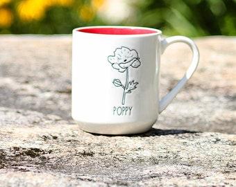 Poppy Mug by Michael Shaw