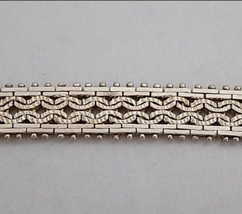 Unique vintage silver bracelet