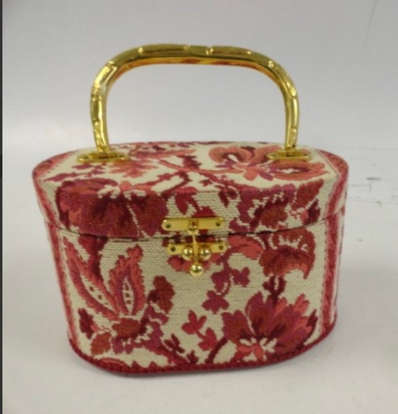 Vintage tapestry box purse