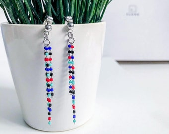Elegant Earrings, Beaded Jewelry, Unique Christmas gift, Native Earrings, Ethnic Earrings, Hippie Jewelry, stocking stuffer