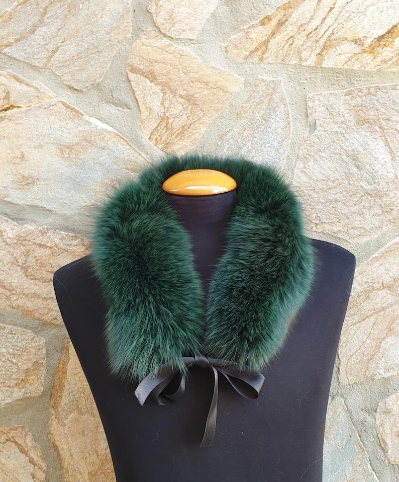 fox fur collar,green fur collar Fur collar