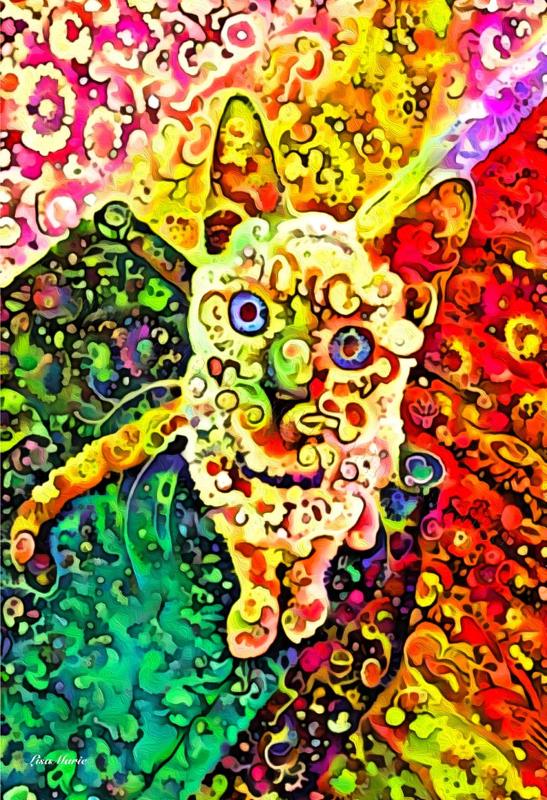 Kitten artcat printfeline themesgreat gift