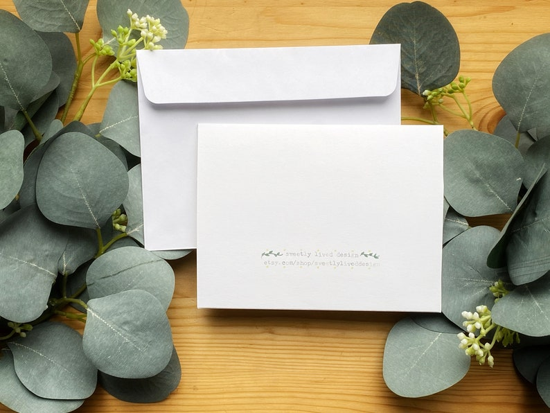 Engagement Cards Beautiful Hand Lettered Simple  Blank Inside- Brush Pen Lettering- Monochromatic Cards-Made From Card Stock