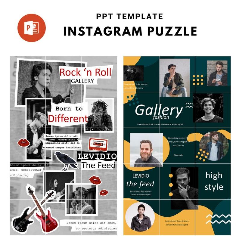 PPT Puzzle Template Carousel Instagram Puzzle Feed template 3 Puzzle Feed Template Instagram Feed Post Instagram 15 Instagram Post