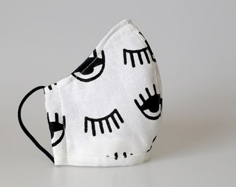 Mondmasker met neusbeugel en opening voor filter (oogjes)