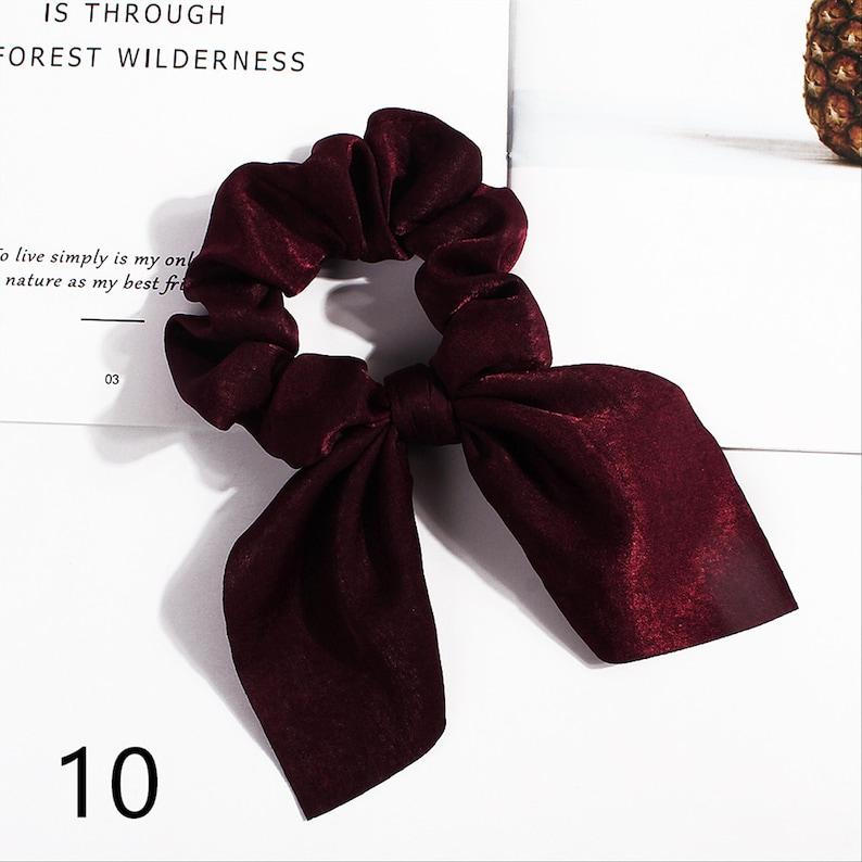 Pure Color Bunny Ears hair accessories|hair ties|bridesmaid proposal|hair ribbon|hair scarf scrunchie|hair bows|wedding gift|scrunchies set