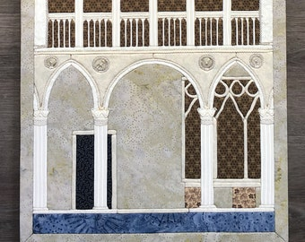 Ca' d'Oro patchwork painting - Venice