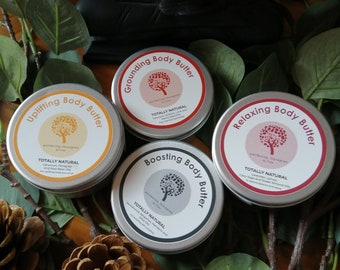 Gift Set 4 Body Butters - Uplifting, Boosting, Grounding + Relaxing