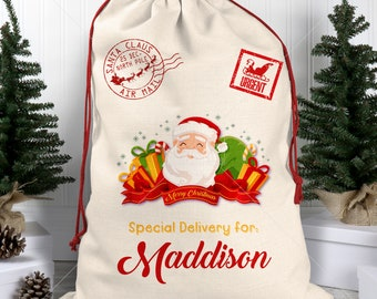 Stocking Santa Claus Hipster Beard Christmas Shoulder Shopping Bag