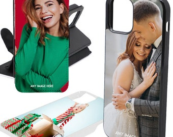 Personalised Any Photo Case Gift Shockproof Cover For Flip Wallet TPU Apple Iphone i Phone 12 Pro Max Mini Any Image