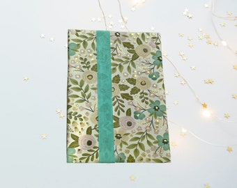 Floral Hardcover Writing Tablet Paper Pad Wide Ruled