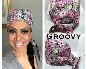 Women Surgical Scrub Hat Cap Spring Joy