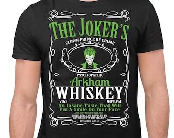 The Jokers Arkham Whiskey Movie Fan Unisex T-Shirt Gift Shirt Design
