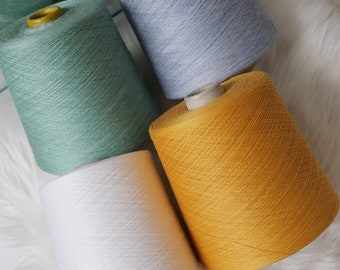 Brown 100/% Pure Linen Fine Weaving Craft Machine Knit yarn 1//39NM
